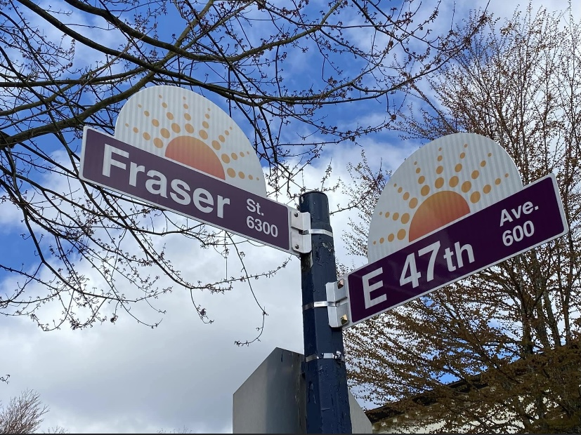 New custom street signs installed early April 2021 are created and funded by the business association. The setting sun represents our beautiful community of Sunset.